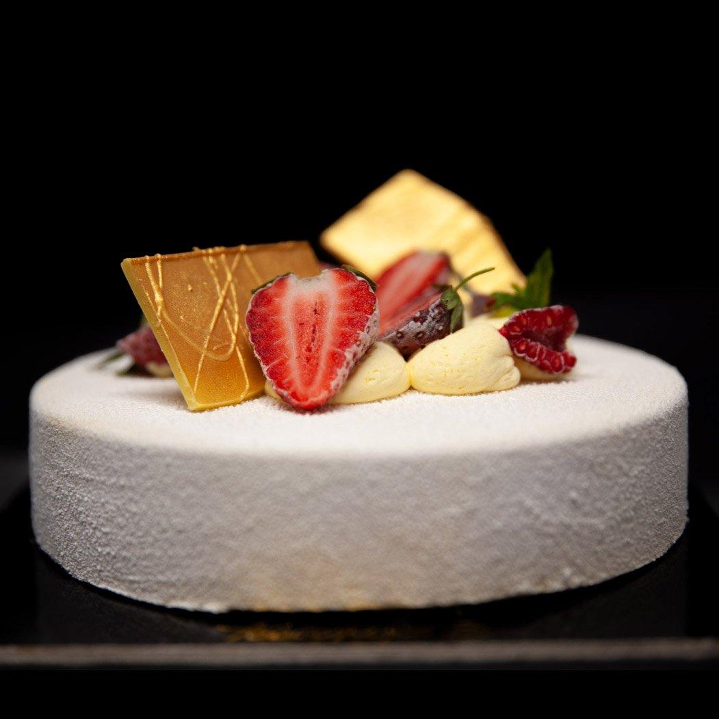torta dettaglio frutta