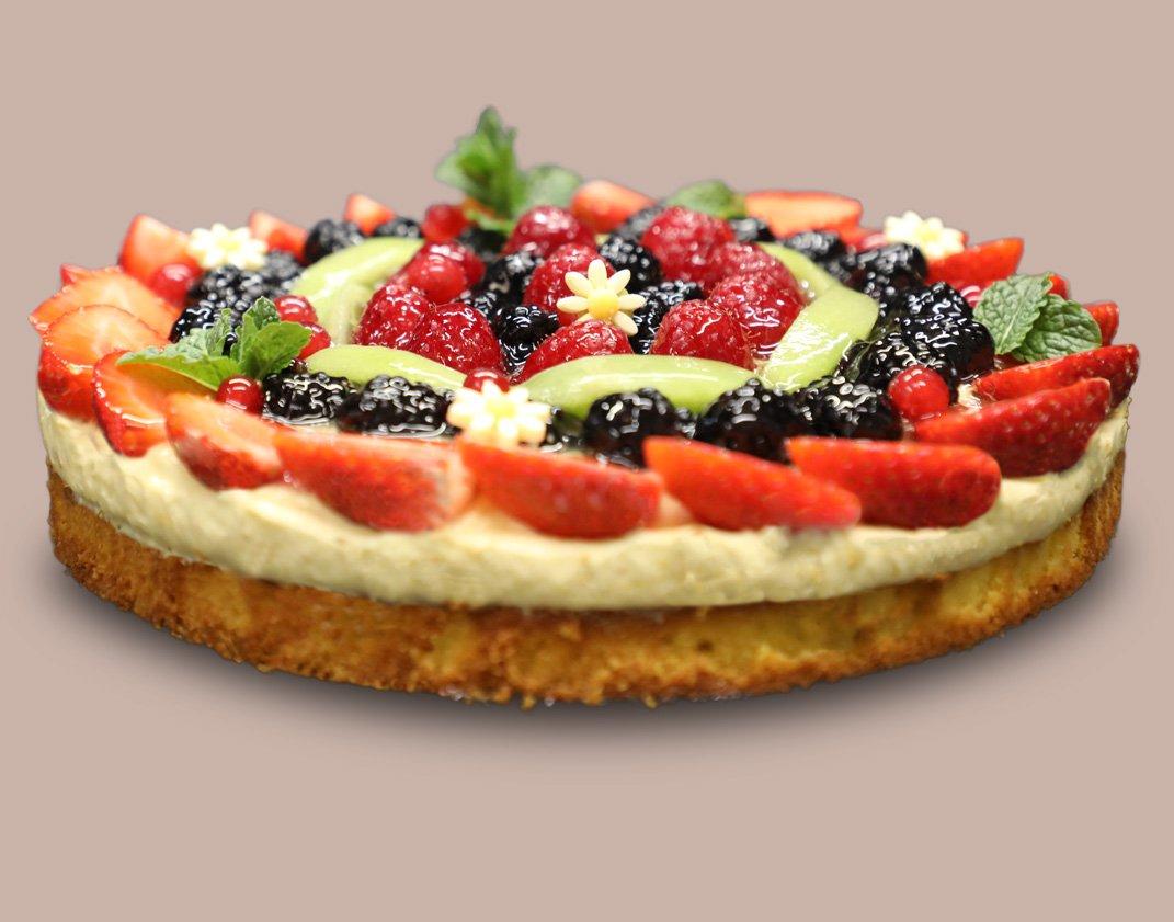 torta frutta frutti bosco fragole more